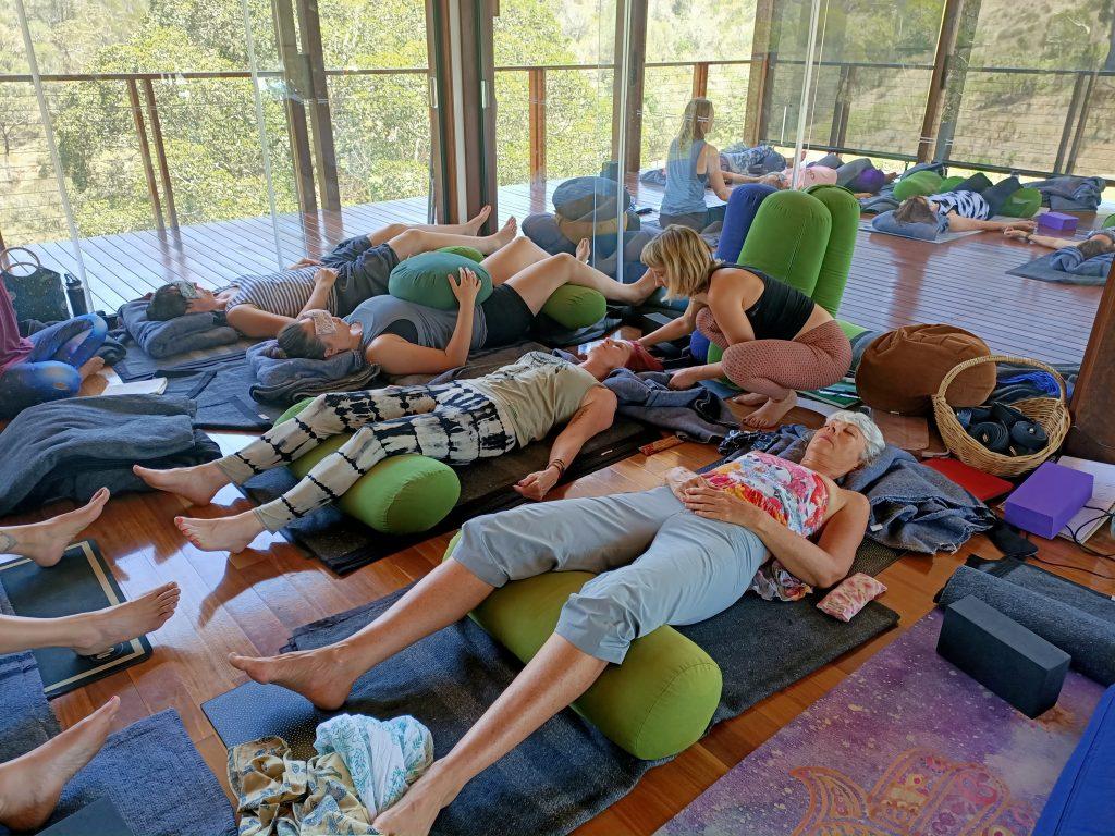 Restorative Yoga Class Session