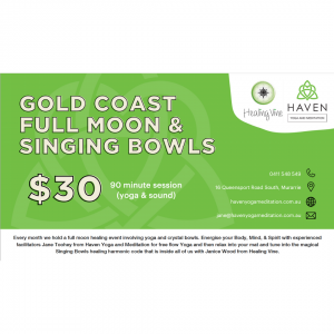Gold Coast Full Moon and Singing Bowls Offer Image