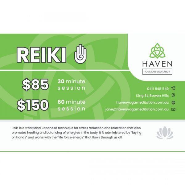 Reiki Massage and Healing Voucher - Haven Yoga & Meditation
