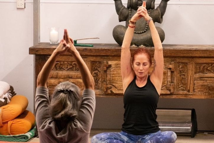 Jane Toohey in a yoga class session - Private Yoga Classes Brisbane image